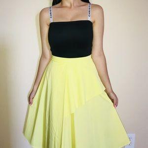 Zara yellow midi skirt